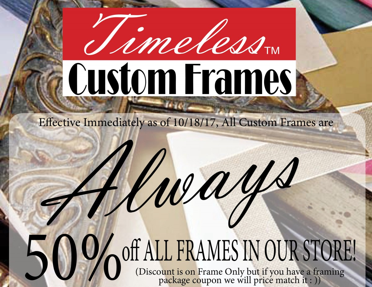DISCOUNT CUSTOM FRAMING LUBBOCK TEXAS – Timeless Custom Frames & Art ...