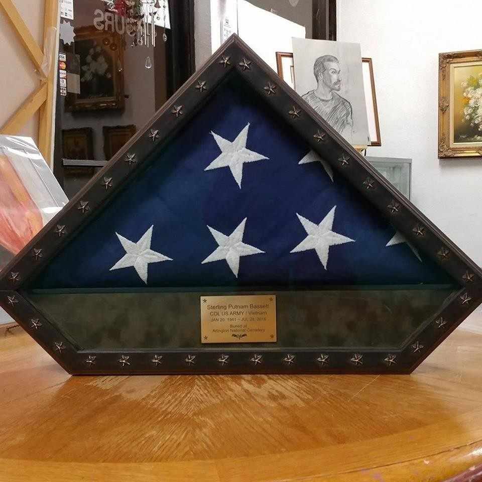 Flag Frames for Casket Flags, all branches of Military, Fire ...