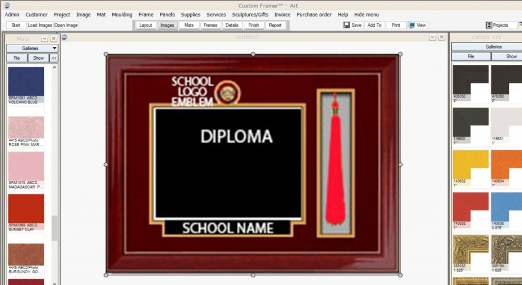 Diploma frames quality and affordable with preservation materials diploma frames add anything you like custom design it your way solutioingenieria Image collections